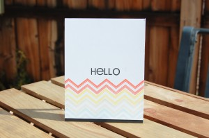 """Hello"" Card for PTI Favorites Inspiration Challenge"