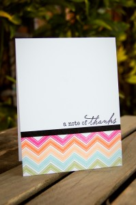 """Note of Thanks"" Card for Color & Favorites Challenge"