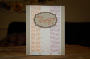 """Happy Birthday"" Card for Color & Favorites Challenge"