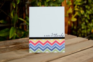 """""""A Note of Thanks"""" Card for Favorites Challenge"""