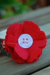 Red Large Flower Hair Clip