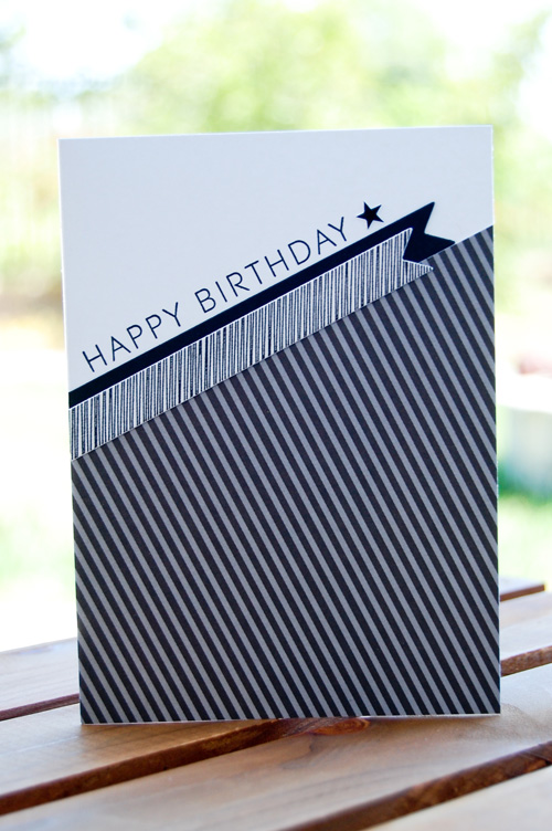 Debonair Birthday Card