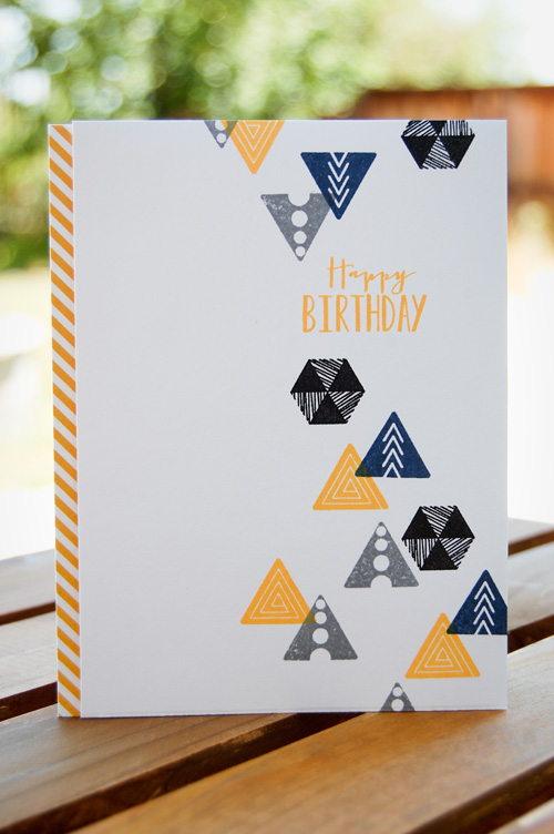 Gentlemanly Geometric Birthday Card